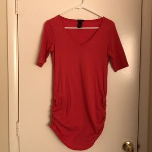 Scrunch side T-Shirt Dress